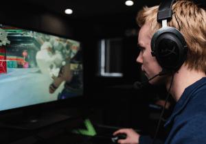 Man gaming on PC